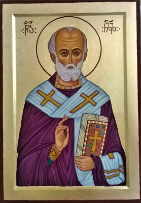 Badri Bukia. Icon of St. Nicholas the Wonderworker