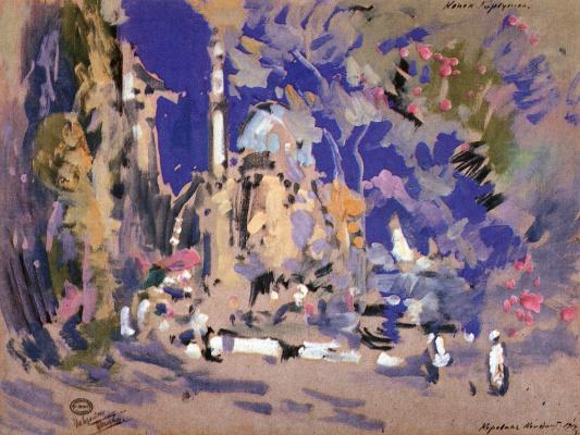 Konstantin Korovin. Sketch of scenery for the ballet