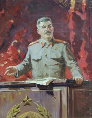 Петр Степанович Сулименко. Портрет Сталина