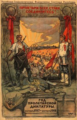 Alexander Petrovich Apsit. Year of proletarian dictatorship. October 1917 — October 1918