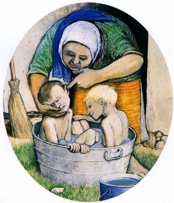 Уильям Курелек. Купание детей