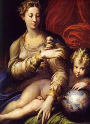 Francesco Parmigianino. Madonna with a rose