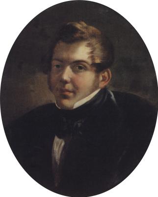 Karl Pavlovich Bryullov. Portrait of the architect M. O. Laparascope