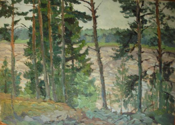 Nina Vasilievna Sedova. Pines on a cliff