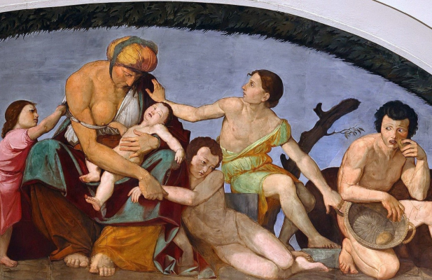 Johann Friedrich Overbeck. Frescoes from Bartholdy's House - Seven Skinny Years. Berggruen Museum, Berlin detail