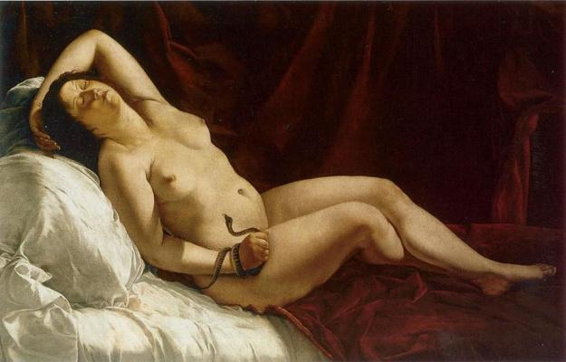Artemisia Gentileschi. Cleopatra