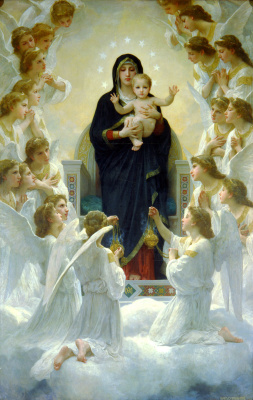 William-Adolphe Bouguereau. Queen of angels