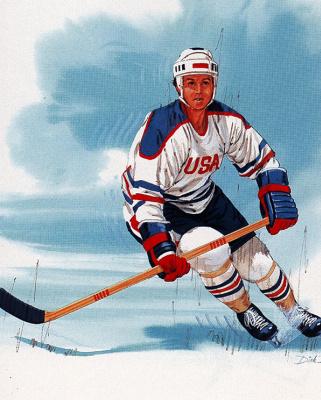 Дик Бобник. Игра в хоккей