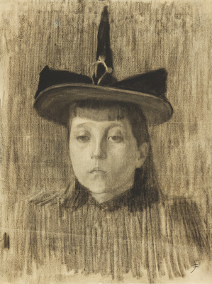 Harald Oskar Sohlberg. Girl in a hat