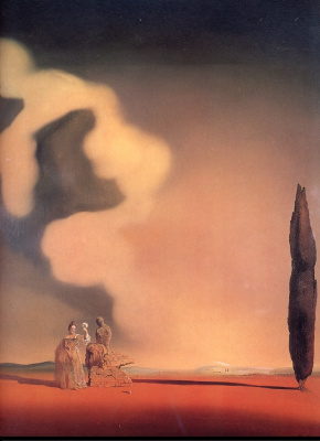 Salvador Dali. Fossil cloud