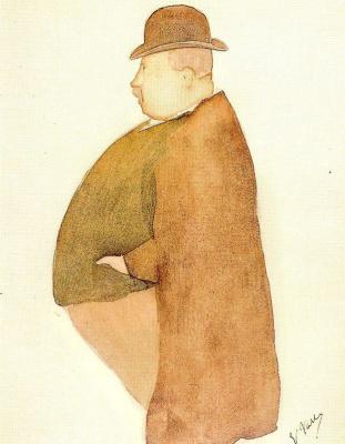 Эваристо Валле. Мужчина в котелке
