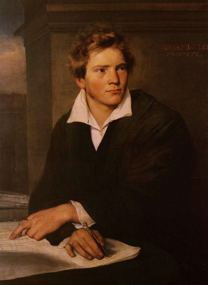 Franz Xaver Winterhalter. Portrait of a young architect Karl Joseph Berkmuller