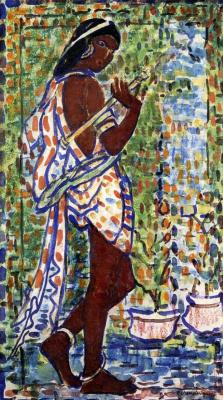 Maurice Braziel Prendergast. Indian dancer