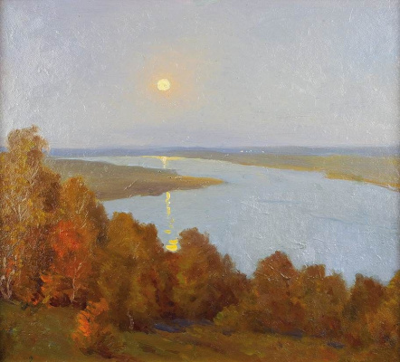 Nikolay Petrovich Krymov. Landscape with moon