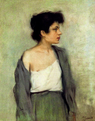 Ramon Casas i Carbó. Portrait of a semi-nude girl