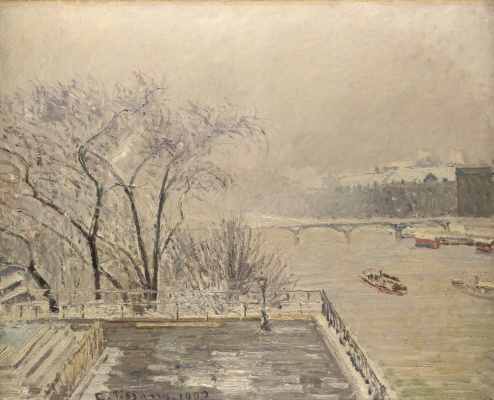 Camille Pissarro. The Louvre under snow