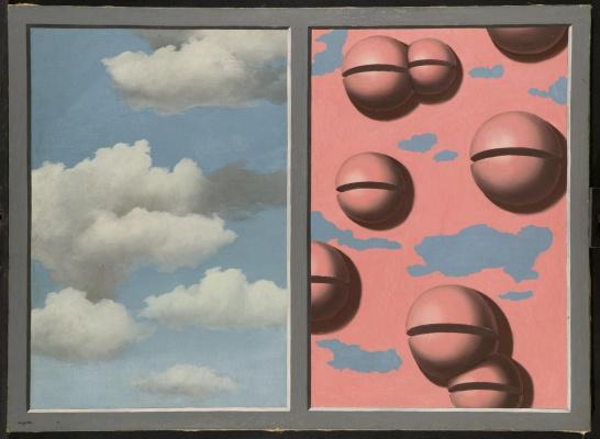 Рене Магритт. Розовые колокольчики, изодранное небо