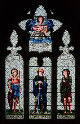 """Уильям Моррис. """"Окно Люси"""", витражное окно церкви аббатства Малмсбери"""
