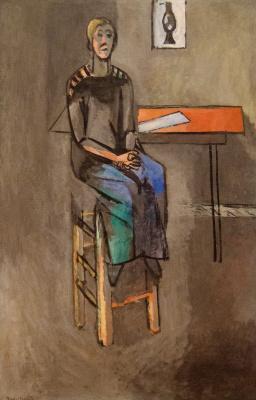 Анри Матисс. Женщина на высоком табурете