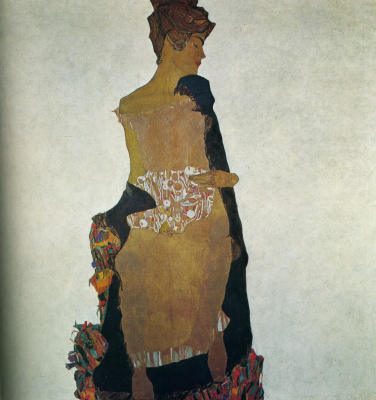 Egon Schiele. Portrait of Gertrude Schiele, the artist's sister