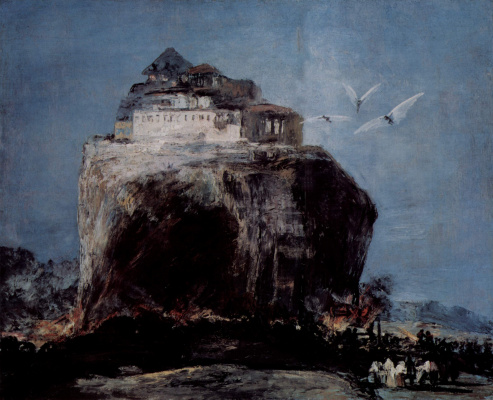 Francisco Goya. Storm of the fortress on the rock