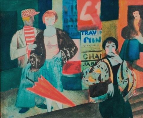 Роман Сута. Улица в Париже