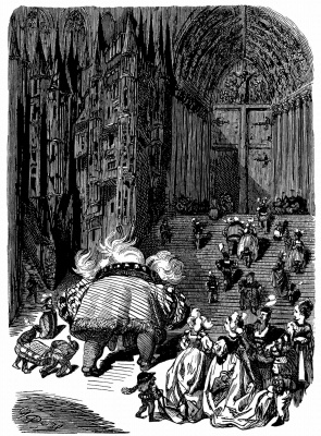 "Paul Gustave Dore. Illustration to ""Gargantua and Pantagruel"" Rabelais"