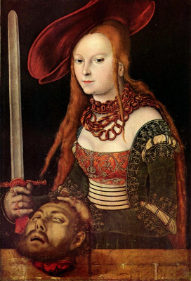 Lucas Cranes the Elder. Judith with the head of Holofernes