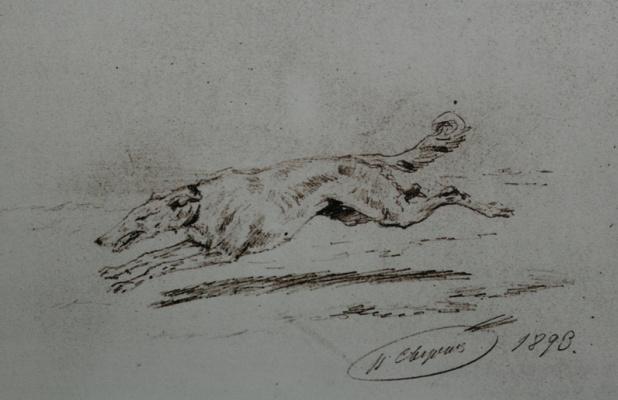 Николай Егорович Сверчков. Гончая. 1893