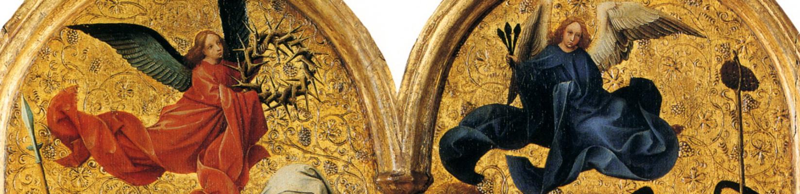 Робер Кампен. Триптих: погребение Христа. Фрагмент: Ангелы над гробницей
