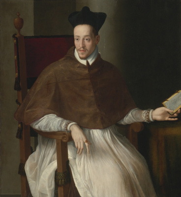 Alessandro Allori. Portrait of a cleric.