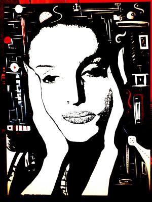 "Alla Ferrara. ""Inspiration"" Acrylbild"