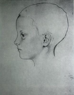 Константин Андреевич Сомов. Девочка Оля (голова)