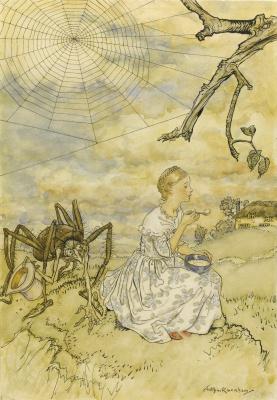 Arthur Rackham. Mutochka Girl