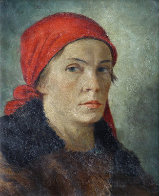 Georgiy Georgievich Ryazhsky. Portrait of a female printer