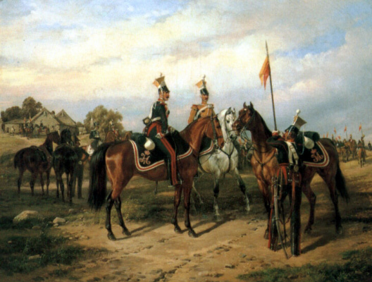 Карл Фридрих Шульц. Уланы и драгуны
