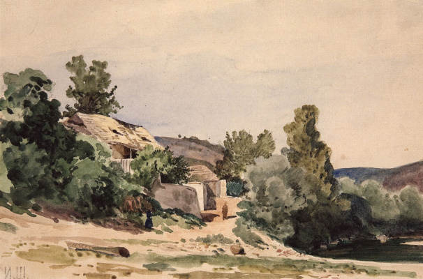 Ivan Ivanovich Shishkin. Landscape. Troy about Prague