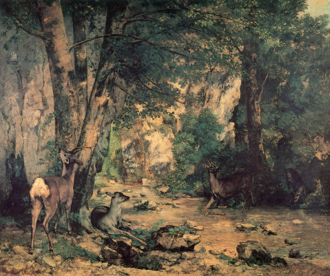 Gustave Courbet. Deer grove