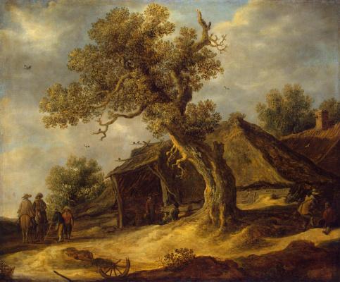 Jan van Goyen. Landscape with oak