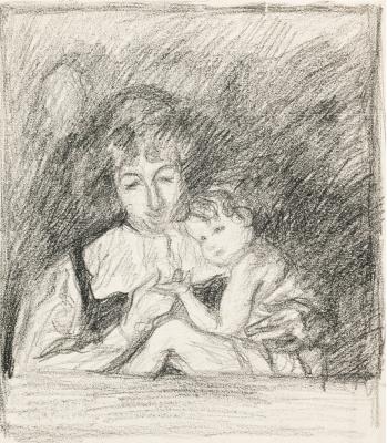Giovanni Giacometti. Mom and Bruno son