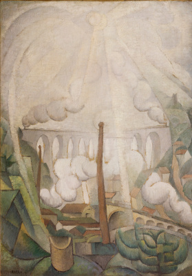 Diego Maria Rivera. The sun breaks through the fog