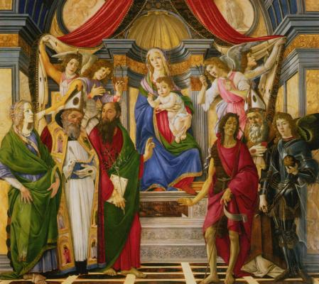 Sandro Botticelli. The altar of St. Barnabas