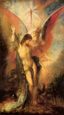 Гюстав Моро. Святой Себастьян и ангел