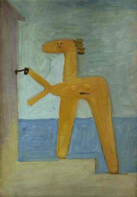 Пабло Пикассо. Купальщица, открывающая кабинку