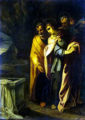 Francisco Ribalta. The apostles at the tomb of Christ