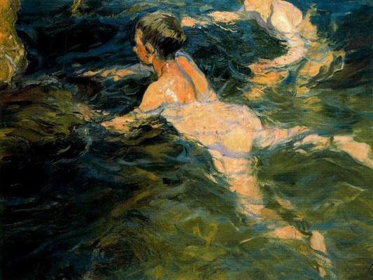Joaquin Sorolla. Swimmers, Javea