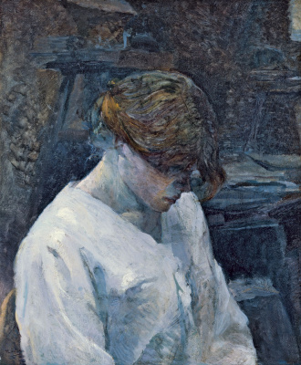 Анри де Тулуз-Лотрек. Рыжеволосая в белой блузе