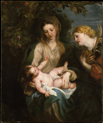 Anthony van Dyck. Madonna and child with Saint Catherine of Alexandria