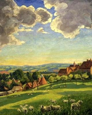 Уинстон Черчилль. Пейзаж с овцами. Чартуэлл.
