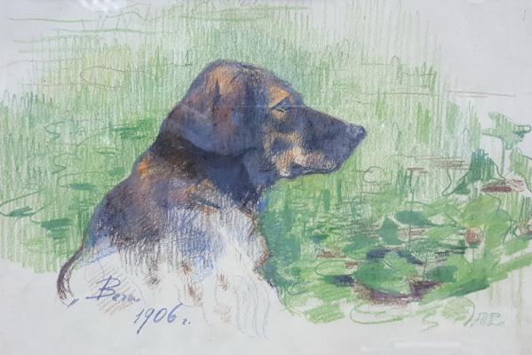Алексей Степанович Степанов. Вега-охотничья собака художника